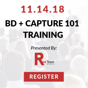 Business Development & Capture Training 101 Set for November 14 - Register Today
