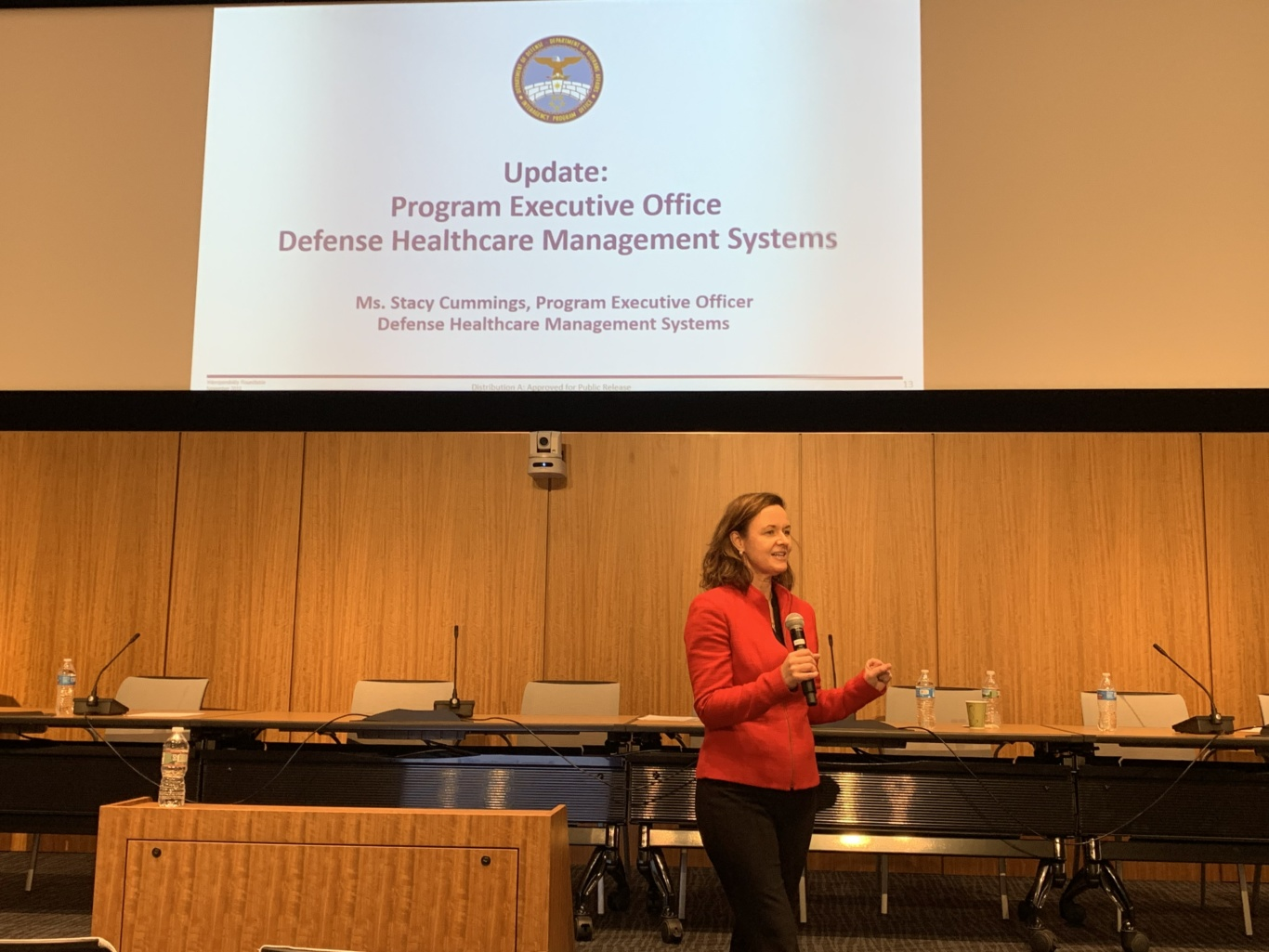 Stacy Cummings at DoD VA Industry Interoperability Roundtable