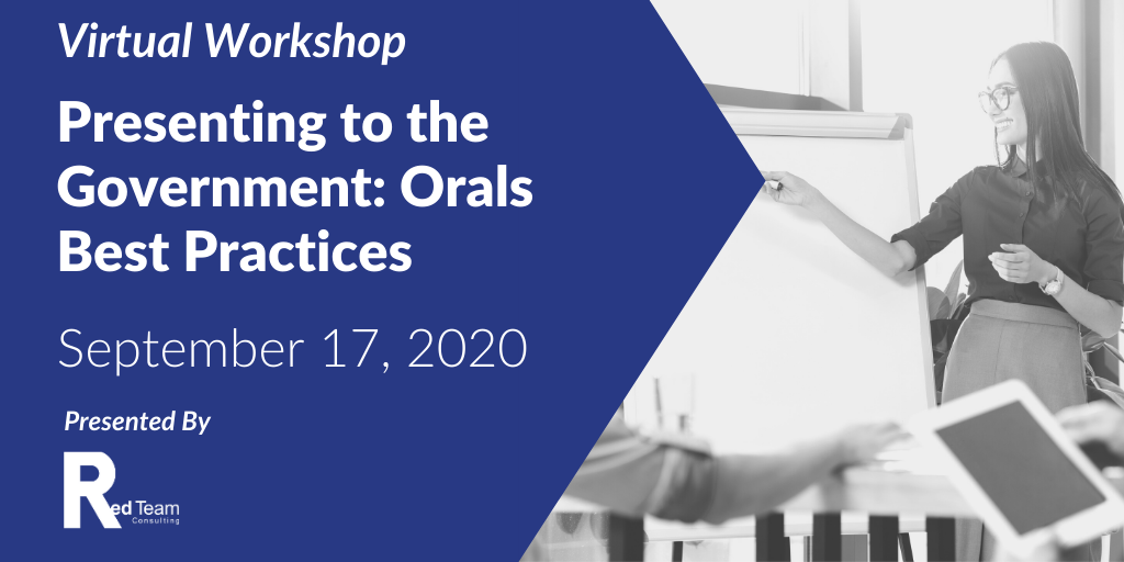Presenting to the Government: Orals Workshop